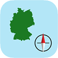 German Grid Ref Compass app store icon