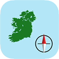Irish Grid Ref Compass app store icon