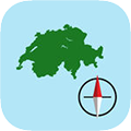 Swiss Grid Ref Compass app store icon