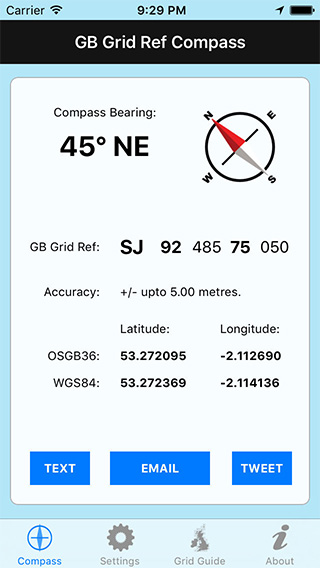 GB Grid Ref Compass iPhone App image 1