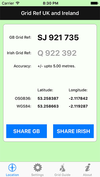 Grid Ref UK and Ireland iPhone App image 1