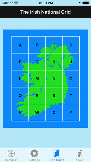 Irish Grid Ref Compass iPhone App image 2