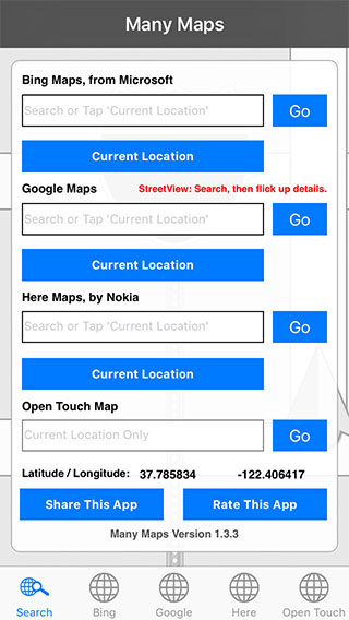 Many Maps Lite App for iOS and Windows
