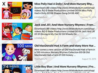 Toddler Tube App for iOS