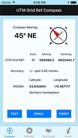UTM Grid Ref Compass iPhone App image 1