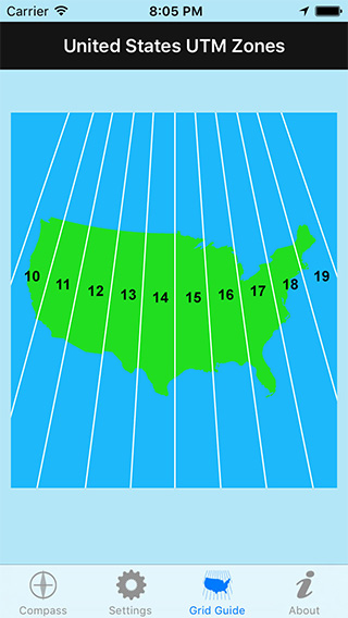 UTM Grid Ref Compass iPhone App image 2