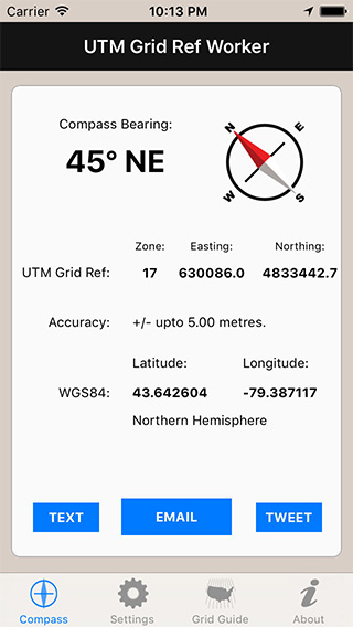 UTM Grid Ref Worker iPhone App image 1