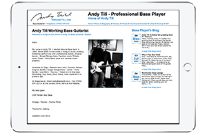 Andy Till website screenshot