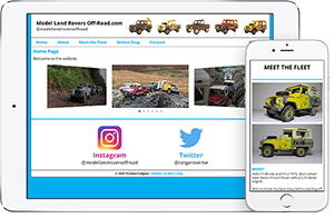 Model Land Rovers Off-Road website screenshot