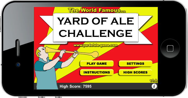 Yard of Ale on an iPhone 4