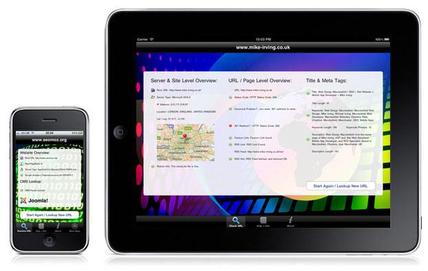 CMS Detect (iPhone), Website SEO Checks (iPad)