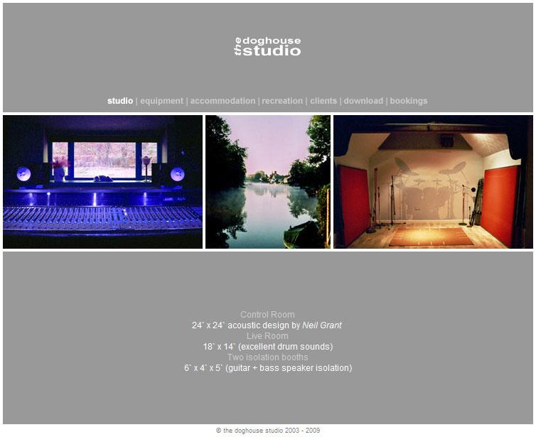 Screenshot of The Doghouse Studio website