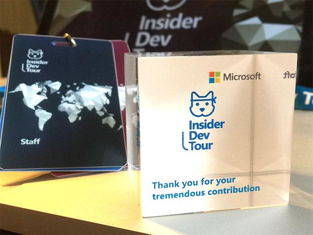 Microsoft Insider Dev Tour souvenirs